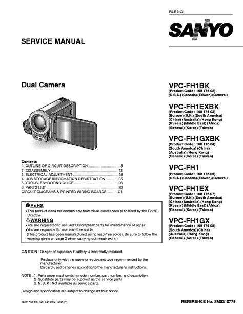 Sanyo Fh1 Manual (ePUB/PDF) Free