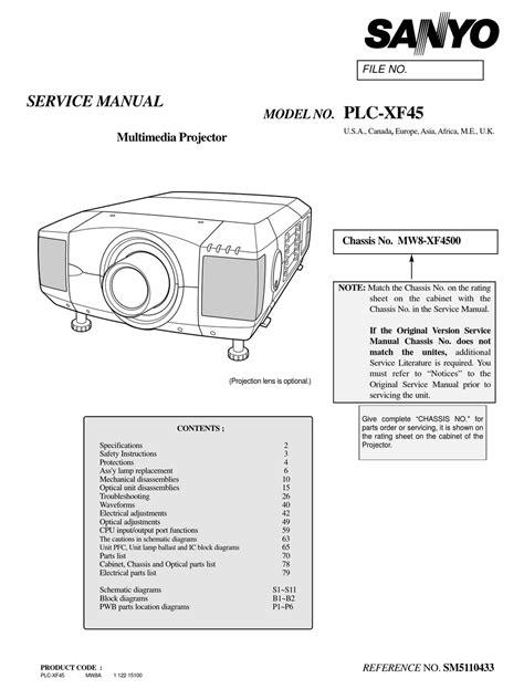 Sanyo Xf45 Manual (ePUB/PDF) Free