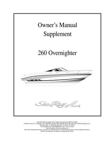 Sea Ray Owners Manual (ePUB/PDF) Free
