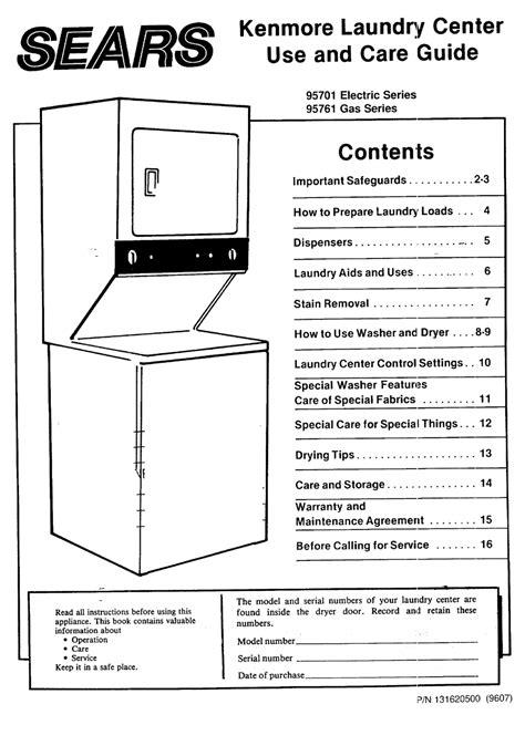 Sears Appliance Instruction Manuals (ePUB/PDF)