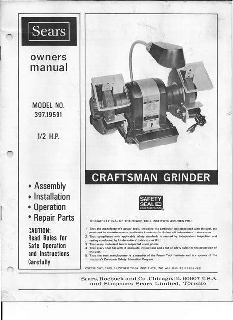 Sears Grinder Manual (ePUB/PDF) Free