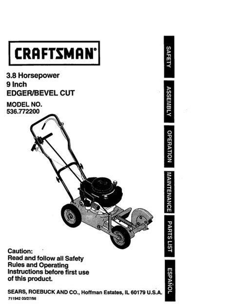 Sears Lawn Edgers Manuals (ePUB/PDF)