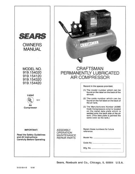 Sears Manuals Air Compressor   Pdf/ePub Liry on