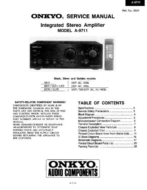 Surprising Service Manual Onkyo A 9711 Epub Pdf Wiring Digital Resources Honesemecshebarightsorg