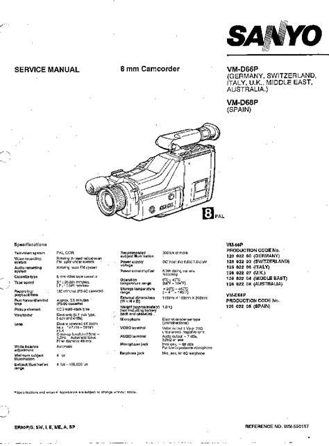 Service Manual Sanyo Vm D6p Vm D16p Vm D8p Vm D18p Vm D10p Vm D20p