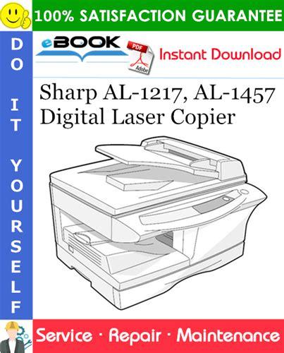 Book] Sharp Al 1217 Al 1457 Digital Laser Copier Service Repair ...