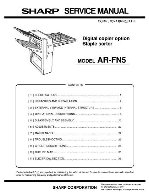 Book] Sharp Ar Fn5 Service Manual - delta.gitlab.pdf.delotus.net