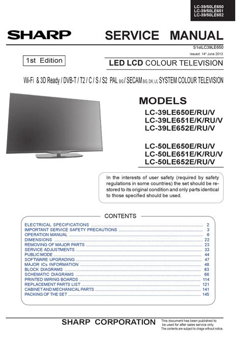 Sharp Hdtv Manual (ePUB/PDF) Free