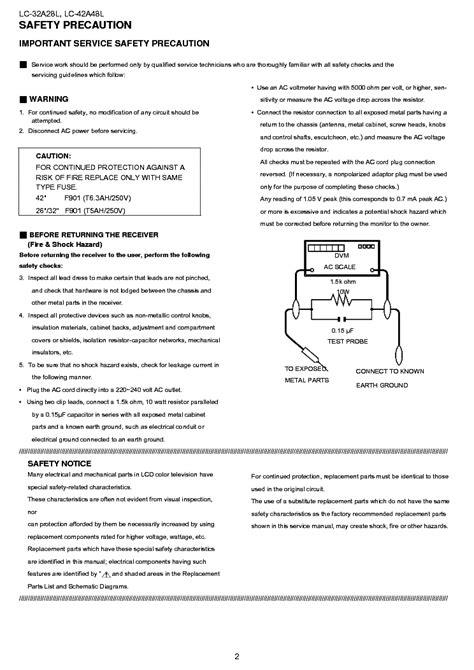 Sharp Lc 32a28l 42a48l Service Manual Repair Guide (ePUB/PDF)