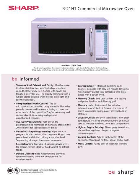 Sharp Microwave Manual (ePUB/PDF) Free