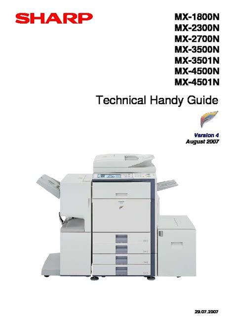 Sharp Mx 3500n 4500n 3501n 4501n Service Manual Technical