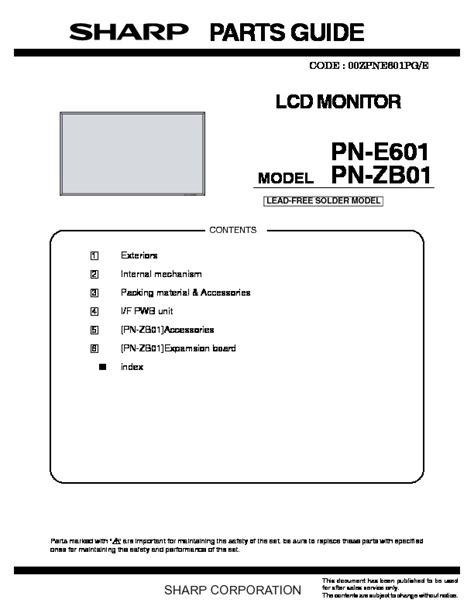 38a17ba4c65c5 Sharp Pn Zb01 Manual (ePUB/PDF)