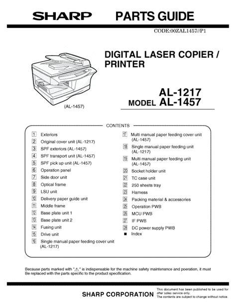 Sharp Printer Manual (ePUB/PDF) Free