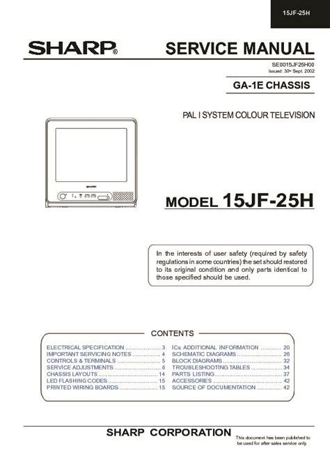Sharp Tv Repair Manuals (ePUB/PDF) Free