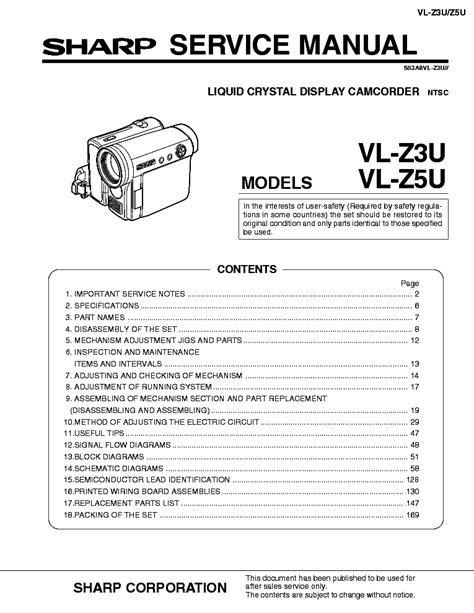 Sharp Vl Z5 Manual (ePUB/PDF) Free