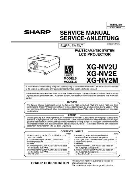 Sharp Xg Nv2u Manual (ePUB/PDF)