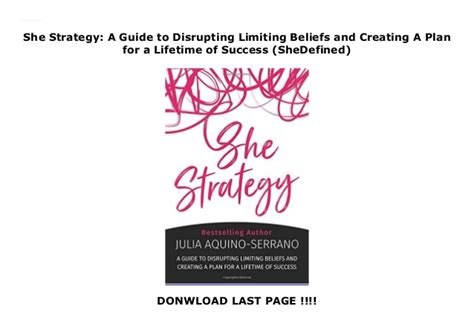 She Strategy A Guide To Disrupting Limiting Beliefs And Creating A Plan For A Lifetime Of Success SheDefined