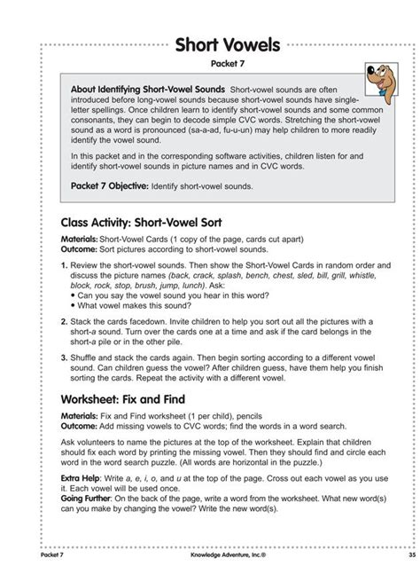 Short Vowel Lesson Plans For Second Grade (ePUB/PDF) Free