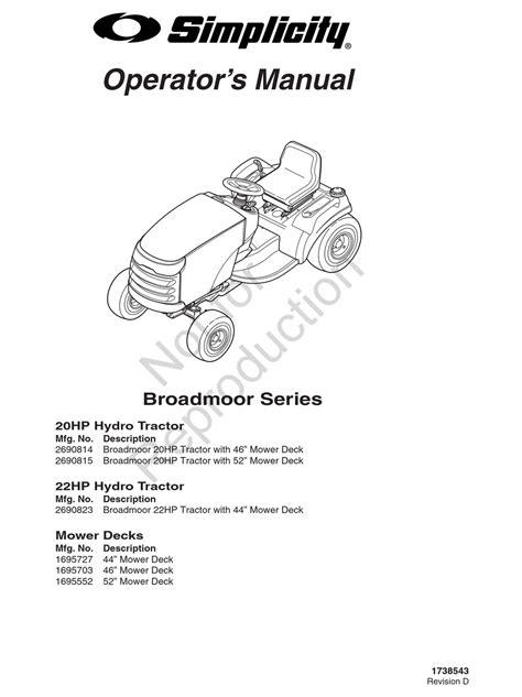 Pleasant Simplicity Broadmoor 20 Hp Manual Epub Pdf Wiring 101 Olytiaxxcnl