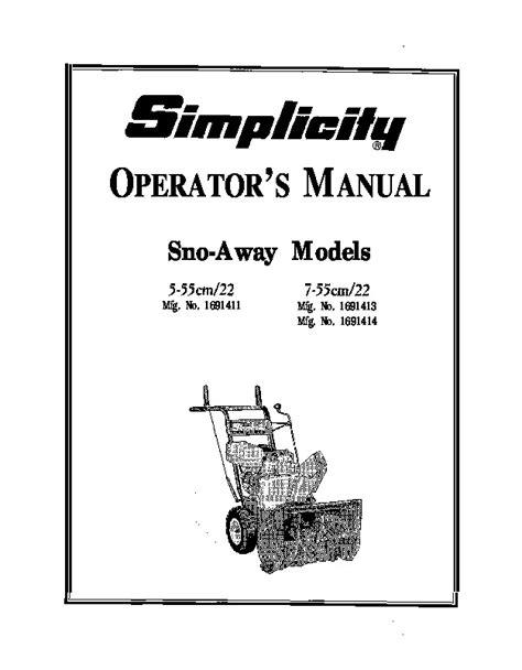 Simplicity Snow Thrower Manuals (ePUB/PDF)
