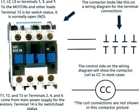single pole ac contactor wiring diagram