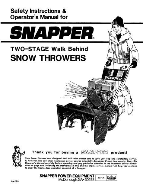Snapper Snow Blower Engine Manual (ePUB/PDF)