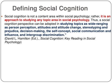 Social Cognition Topics In Social Psychology