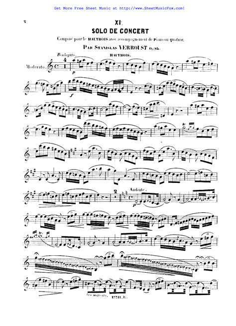 Solo De Concert Op 83 For B Tenor Saxophone Solos With Piano Accompaniment