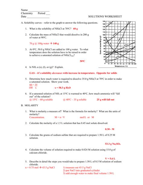 Solutions And Solubility Review Sheet (ePUB/PDF) Free