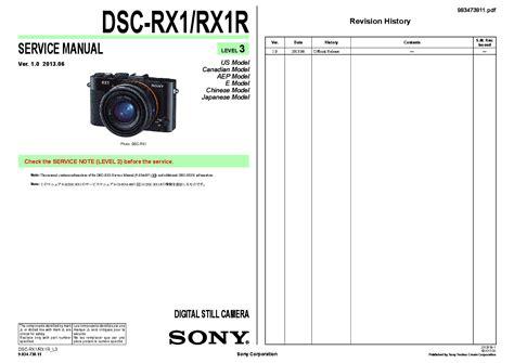 Sony Rx1r Manual Pdf (ePUB/PDF) Free