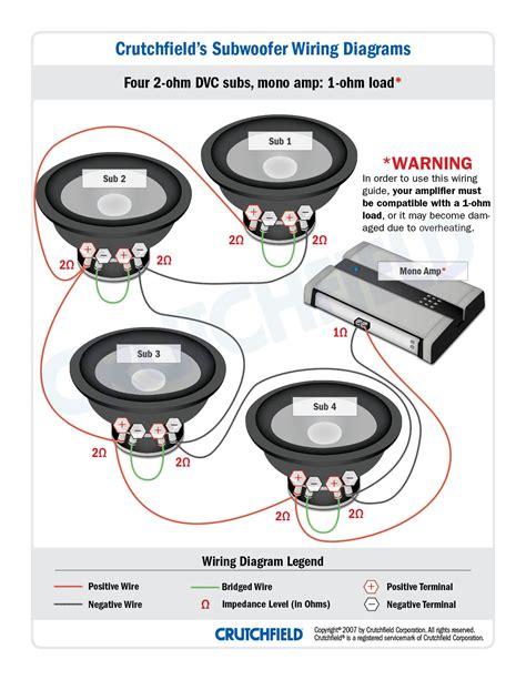 speaker wiring diagram 2 ohm 4 ohm