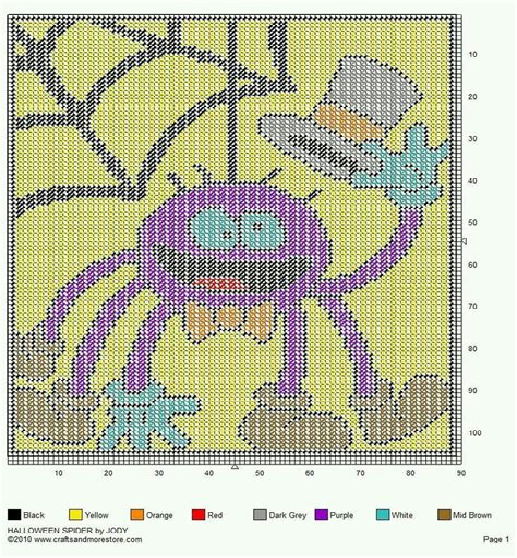 Spider 001 Counted Canvas Pattern (ePUB/PDF) Free