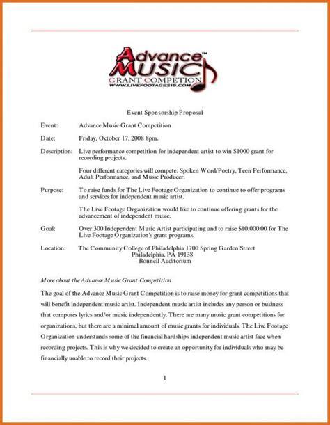 Sponsorship Letter For Musicians (ePUB/PDF)