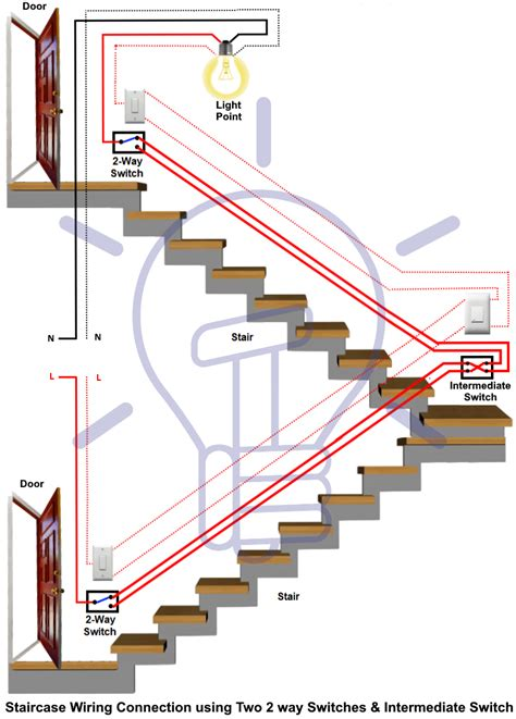 staircase wiring circuit diagram 3 way switch