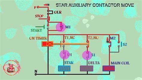 star delta motor wiring diagram star delta starter control wiring diagram animation youtube  pdf  star delta starter control wiring