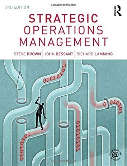 Strategic Operations Management Bessant John Brown Steve (ePUB/PDF)