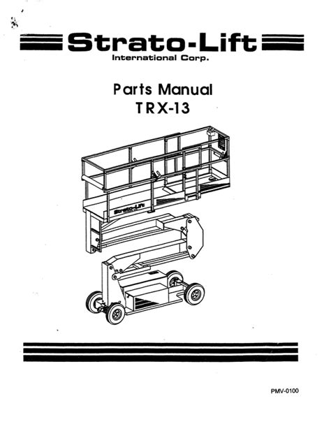 Astonishing Strato Lift Trx13 Parts Manual Epub Pdf Wiring 101 Cranwise Assnl