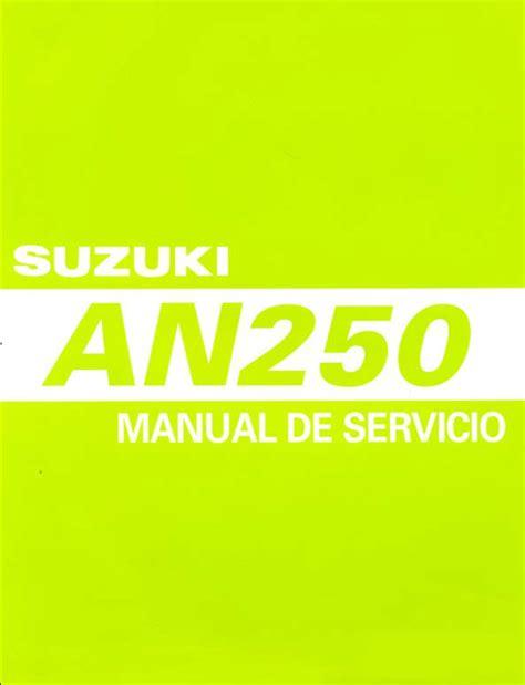 Suzuki An250 K3 K4 Service Repair Manual (ePUB/PDF) Free