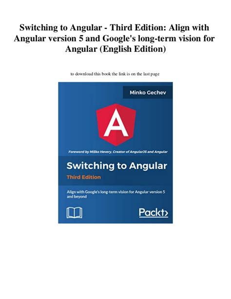 Switching To Angular Third Edition Align With Angular Version 5 And Googles Long Term Vision For Angular