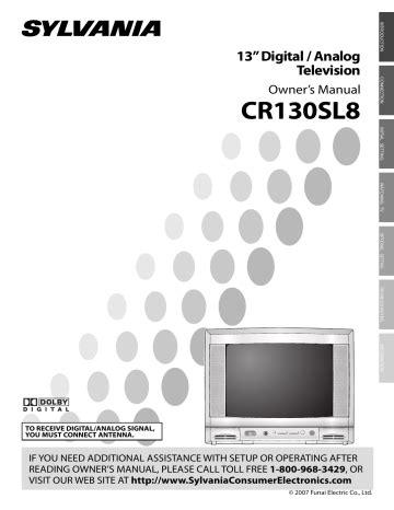 Sylvania Cr130sl8 Manual (ePUB/PDF)