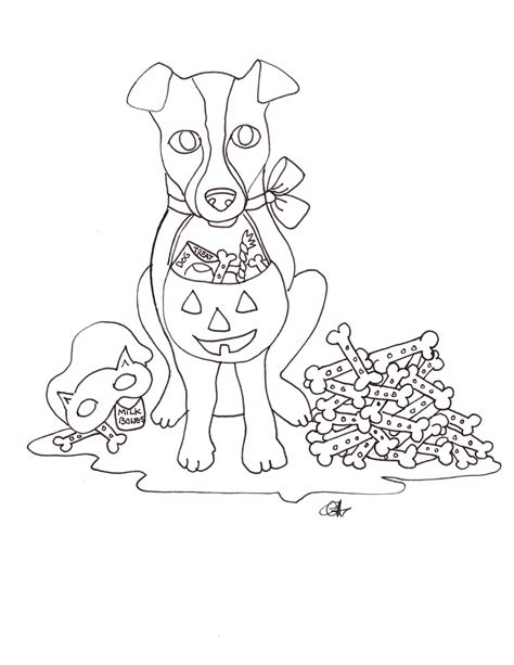 Target Dog Holloween Coloring Page