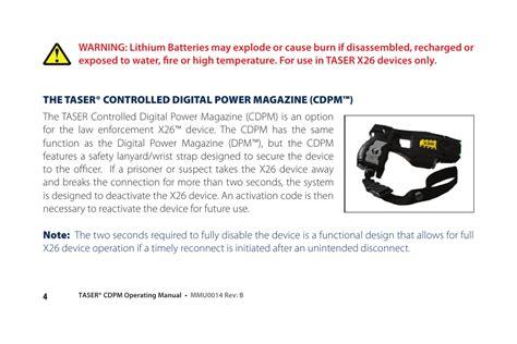 Taser X26 Manual (ePUB/PDF) on