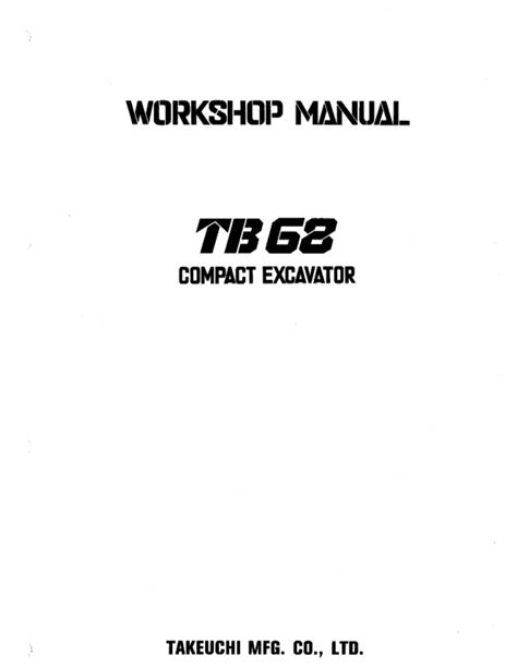 Surprising Tb68 Tb68 E Compact Excavator Workshop Manual Epub Pdf Wiring 101 Ferenstreekradiomeanderfmnl
