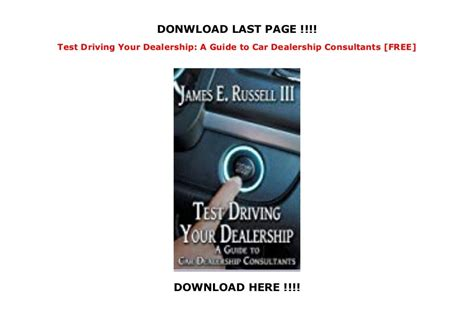 Test Driving Your Dealership A Guide To Car Dealership Consultants
