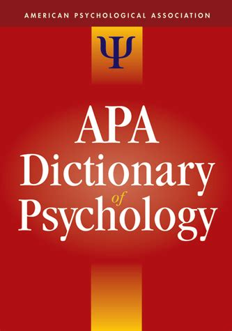 The Apa Dictionary Of Psychology