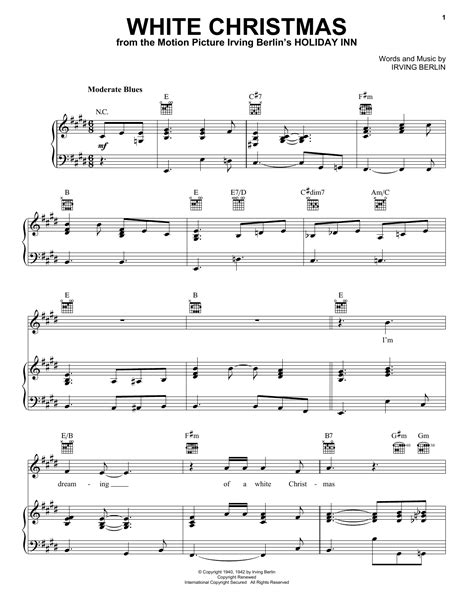 The Best In Christmas Sheet Music Piano Vocal Chords