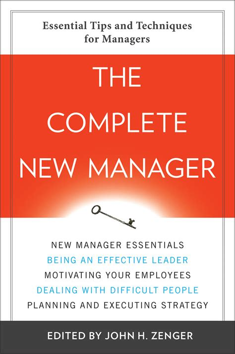 The Complete New Manager Zenger John