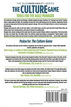 The Culture Game Tools For The Agile Manager Tools For The Agile Manager