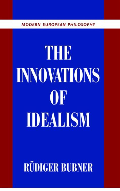 The Innovations Of Idealism Bubner Rudiger (ePUB/PDF)