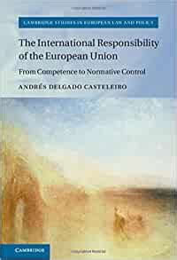 The International Responsibility Of The European Union From Competence To Normative Control Cambridge Studies In European Law And Policy English Edition